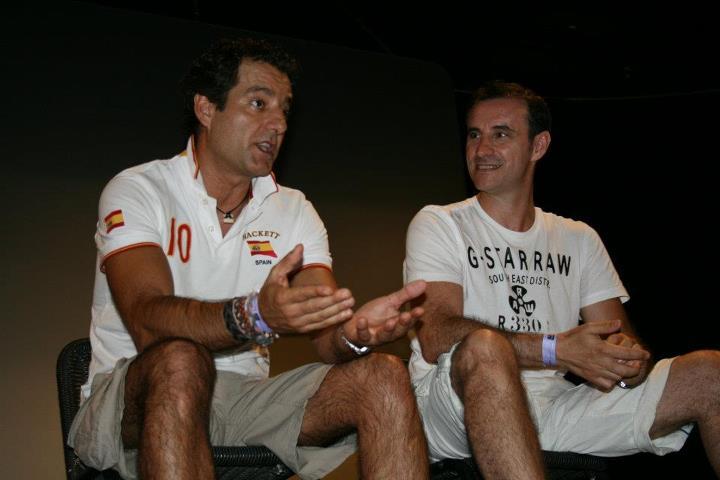 Guillermo Romero y Claudio Serrano en la Fanvención 2012