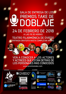 Premios Take 2018 cartel